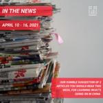 Weekly News - April 10 - 16, 2021